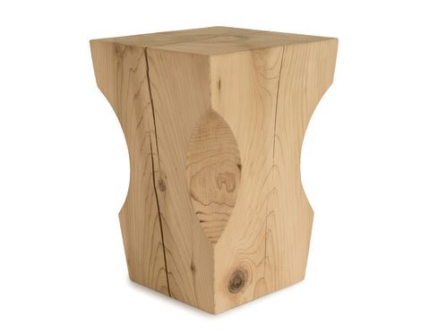 Gather Turn Stool Natural Cedar | Barter