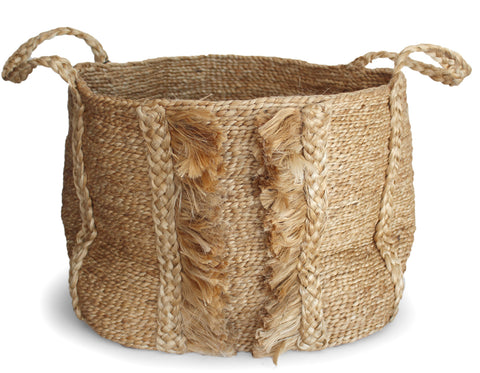 J'Jute - Andaman Medium Basket - Stripe