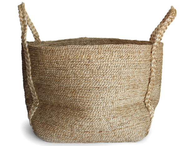 J'Jute -Maya Large Wide Basket - Natural