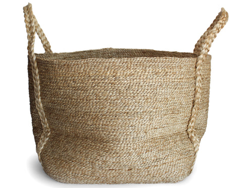 J'Jute - Bazar Tall Fringe Basket - Natural