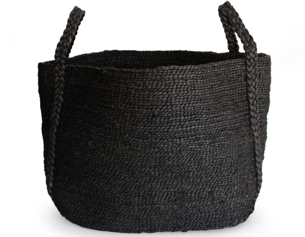 Andaman Medium Jute Basket Black | J'Jute