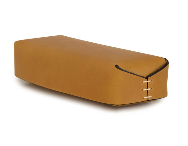 Leather Pencil Case in Ochre | Oscar Maschera