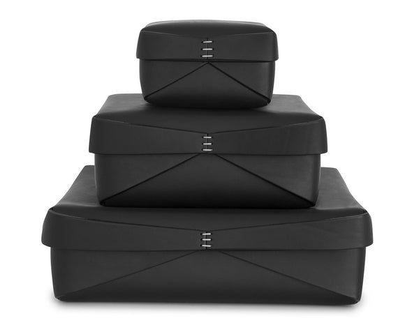Oscar Maschera - Leather Square Box 1 - Black