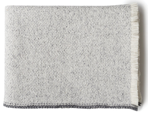 Linen Way - Montreal Baby Alpaca Throw - Pale Grey