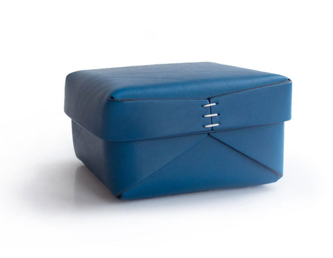 Oscar Maschera - Leather Rectangular Tray 2 - Blue/Black
