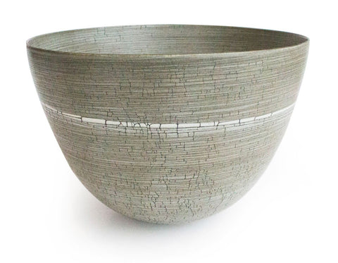 Rina Menardi - Low Bowl - Birch Craquele