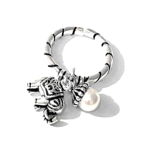Elephant 925 Sterling Silver Tassel Ring