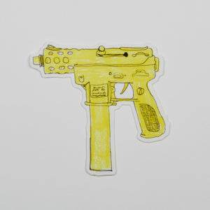 Yellow TEC-9 Sticker.