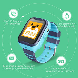 kids smartwatch 4G blue messaging