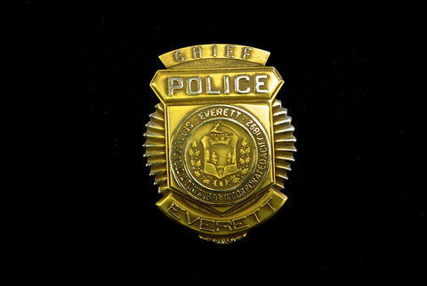 Solid Gold Police Badge SOLD
