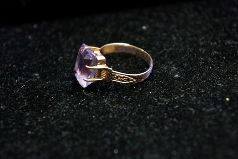 Gold Victorian Amethyst Ring SOLD