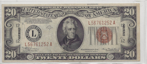 1934 Series A $20 Note