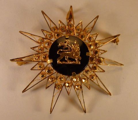 Lion of Judah 21 karat Gold Pin