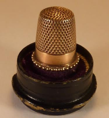 14K Gold Thimble in its' original case