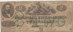 Confederate States $2 Bill Second Series SOLD