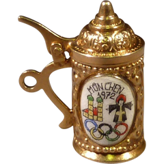 1972 Olympic Beer Stein set in 8 Karat Gold