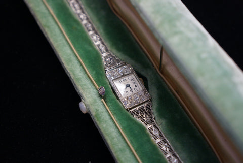 Art Deco Platinum and Diamond Watch