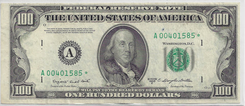 1950 C US $100 Star Note