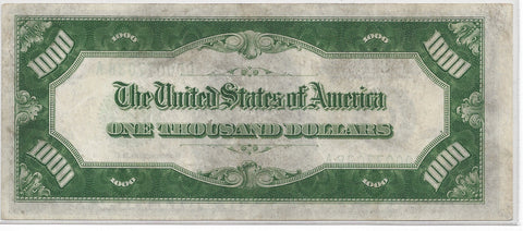 1934 Series US $1000 Bill SOLD