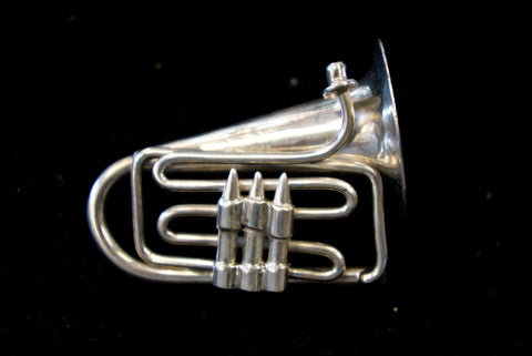 Sterling Horned Instrument Pin
