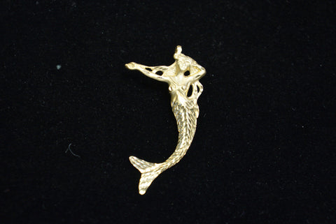 14K Gold Mermaid Pendant