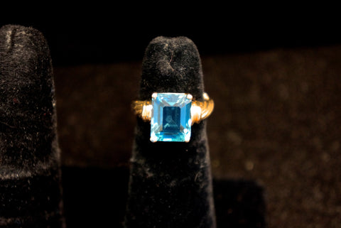 Blue Topaz Gold Ring SOLD