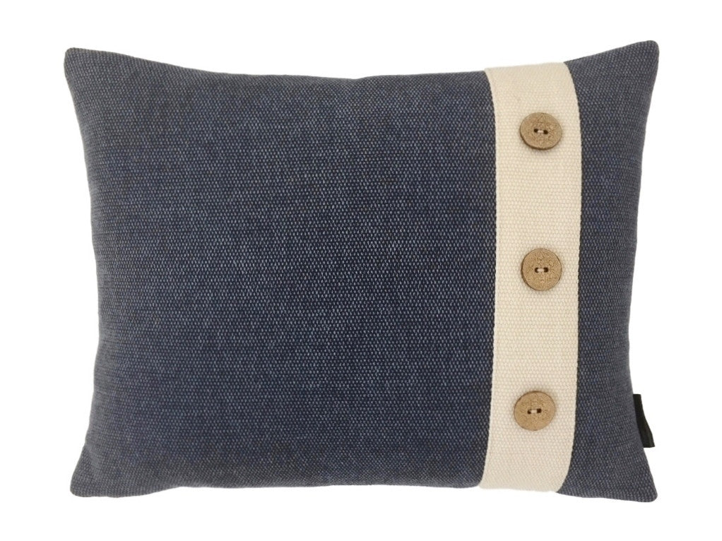 Denim Blue Button Cushions