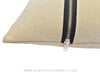 Beige Zipper Cushions
