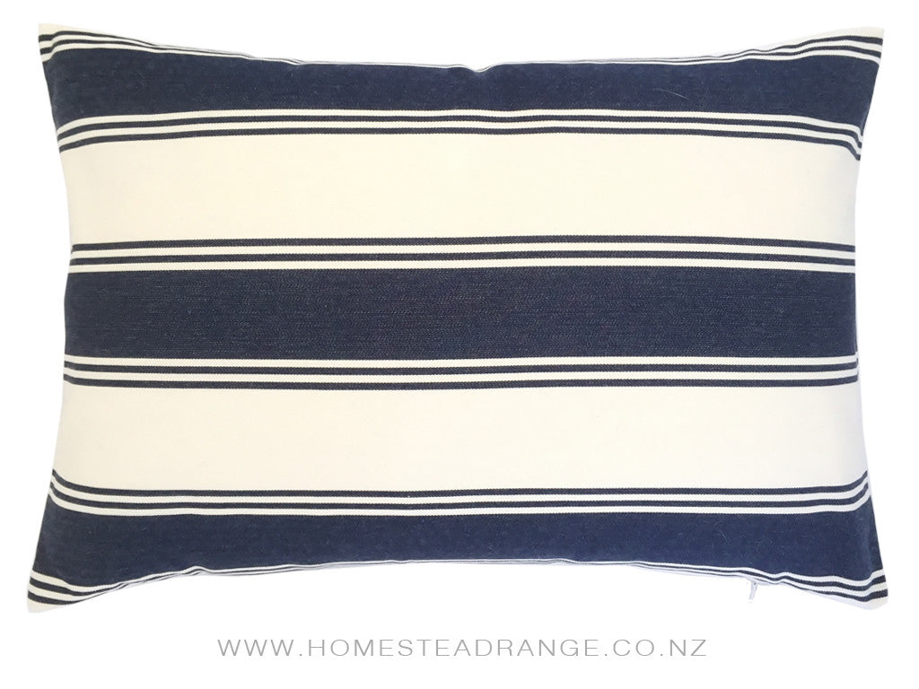 Navy Cream Oblong Cushions