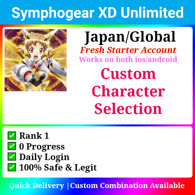 [Japan/Global] Symphogear XD Unlimited XDU Custom Character Selection Service
