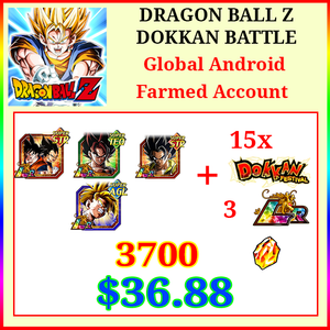 [Global][Android] Dokkan Battle Farmed Starters with 3700DS💎