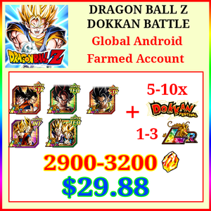 [Global][Android] Dokkan Battle Farmed Starters with 2900-3200DS💎