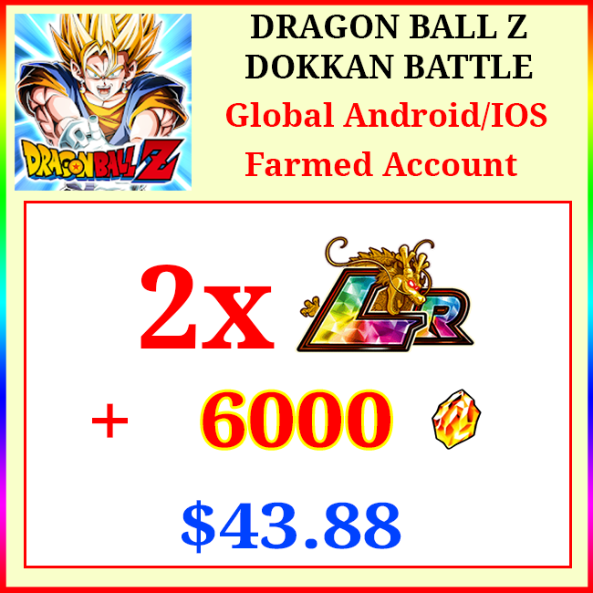 [Global][Android/IOS] Dokkan Battle Farmed Starters with 6000DS💎 + 2LR