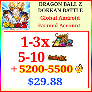 [Global][Android] Dokkan Battle Farmed Starters with 5200-5500DS💎 + 1-3 LR