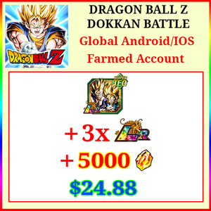 [Global][Android/IOS] Dokkan Battle Farmed Starters with 5000DS💎 + 3LR