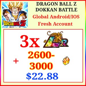 [Global][Android/IOS] Dokkan Battle Fresh Starters with 2600-3000DS💎 + 3 LR