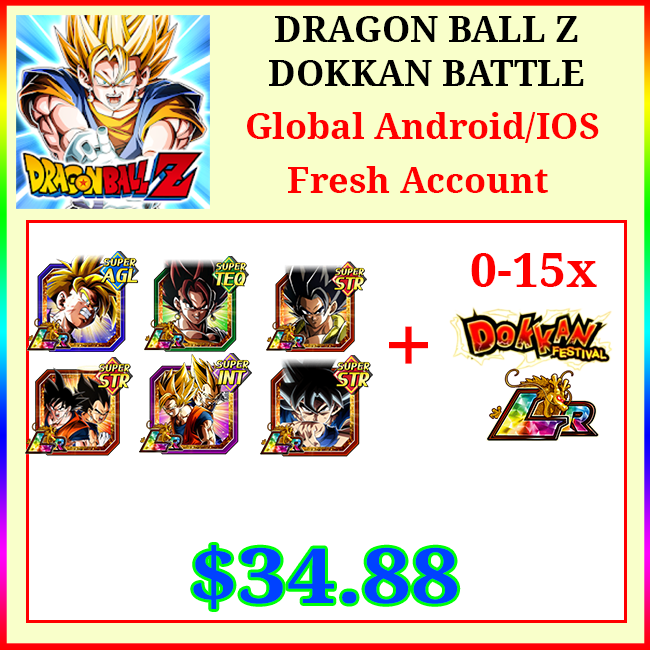 [Global][Android/IOS] Dokkan Battle Fresh Starters + 6 LR