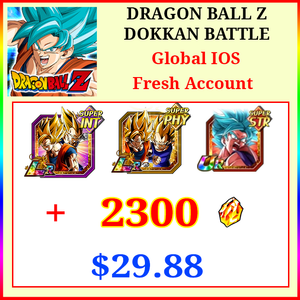 [Global][IOS] Dokkan Battle Fresh Starters with 2300DS💎 SSGSS Goku (Kaioken) + Goku & Vegeta + Goku & Vegeta (Angel)