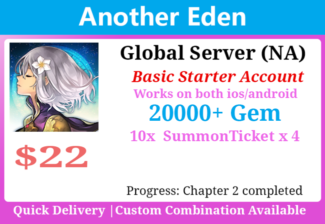 [Global NA] Another Eden 20000+💎Starter