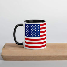Load image into Gallery viewer, American Flag Coffee Mug with Color Inside