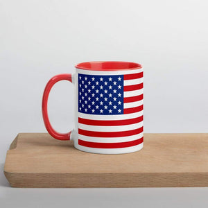 American Flag Coffee Mug with Color Inside