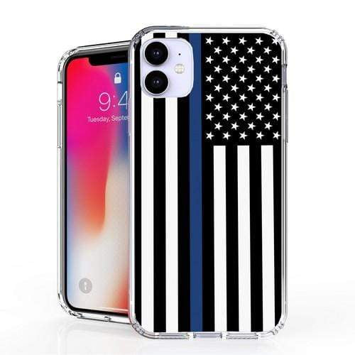 American Flag Phone case Thin Blue line For iPhone 11