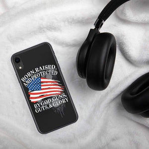 American Flag Protect Gun Phone Case for iPhones