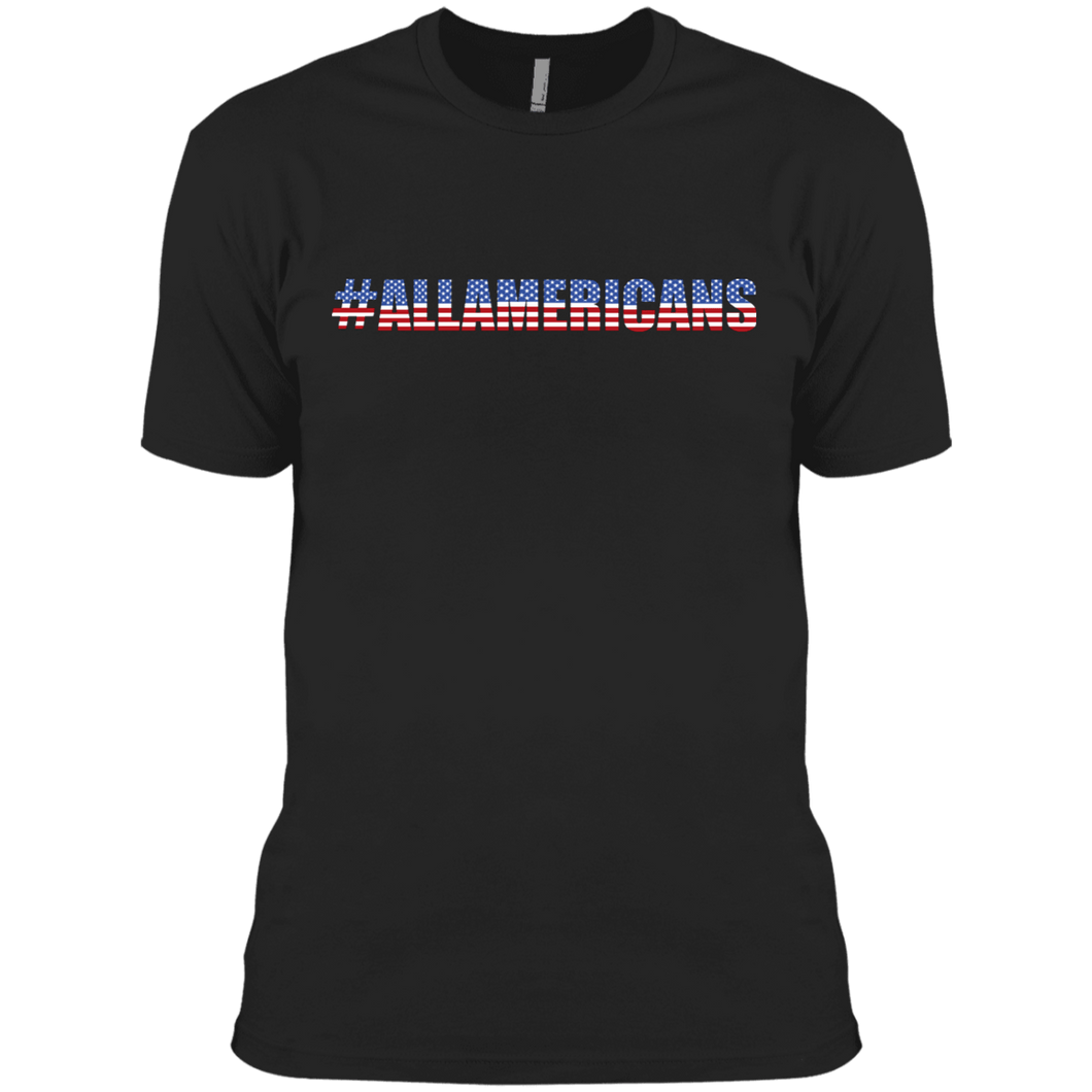American Flag Tee #ALLAMERICANS Mens Made in USA Cotton T-Shirt