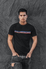 Load image into Gallery viewer, American Flag Tee #ALLAMERICANS Mens Made in USA Cotton T-Shirt