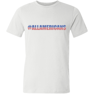 American Flag Tee #ALLAMERICANS Unisex Made in the USA Jersey T-Shirt