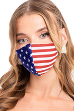 Load image into Gallery viewer, American Flag Tee Face Covering Made in USA American Flag