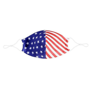 American Flag Tee Face Covering Made in USA American Flag