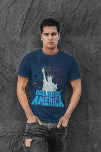 American Flag tee God Bless America Made in the USA Jersey T-Shirt