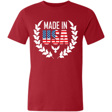 Load image into Gallery viewer, American Flag Tee Unisex Made in the USA Jersey T-Shirt